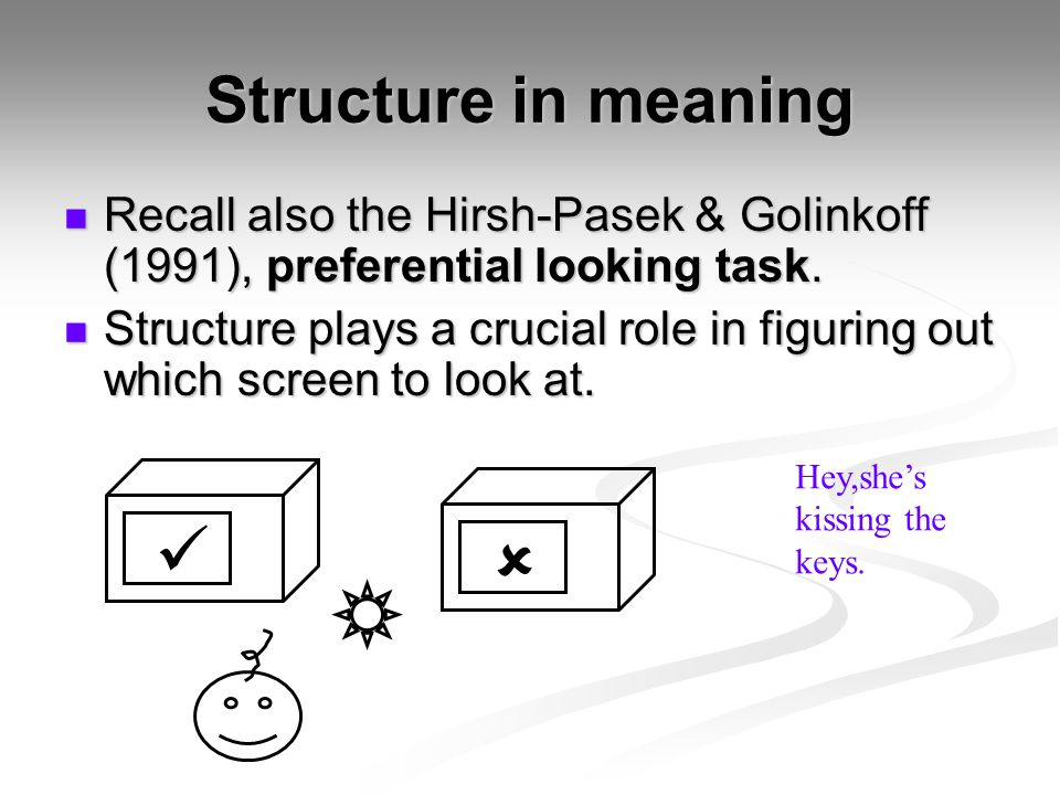  Structure in meaning
