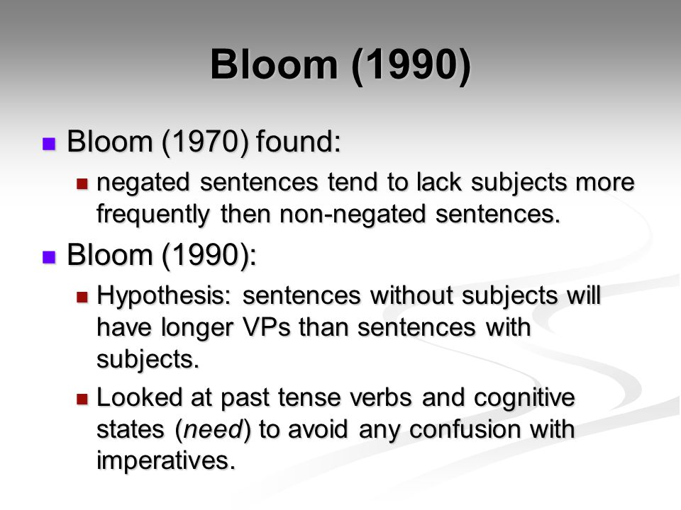 Bloom (1990) Bloom (1970) found: Bloom (1990):