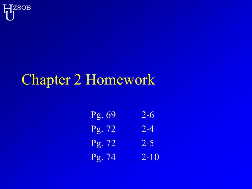 Chapter 2 Homework Pg. 69 2-6 Pg. 72 2-4 Pg. 72 2-5 Pg. 74 2-10