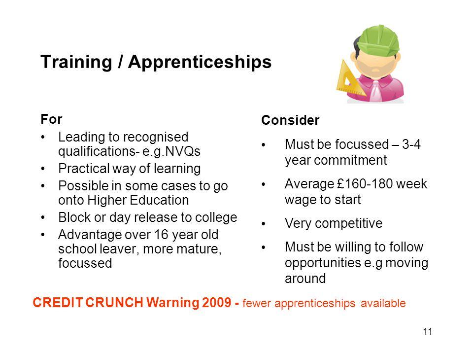 Training / Apprenticeships