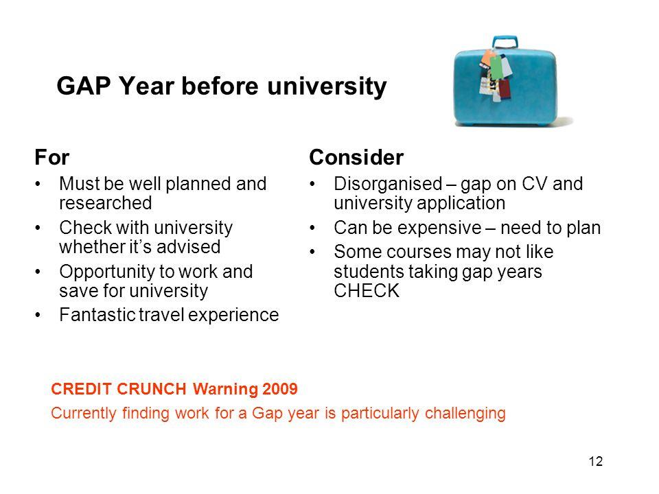 GAP Year before university