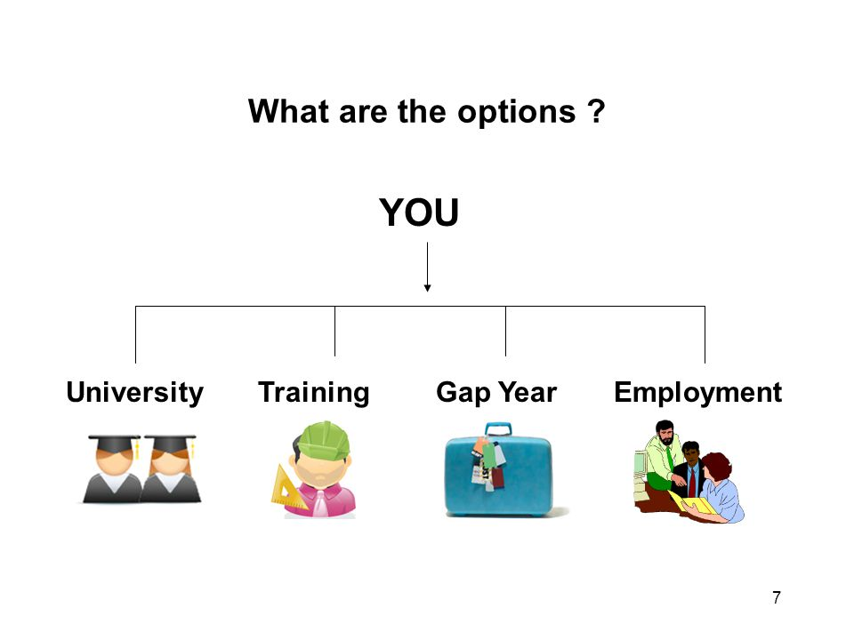 What are the options YOU University Training Gap Year Employment