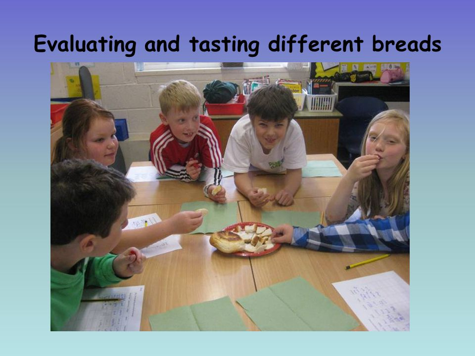 Evaluating and tasting different breads
