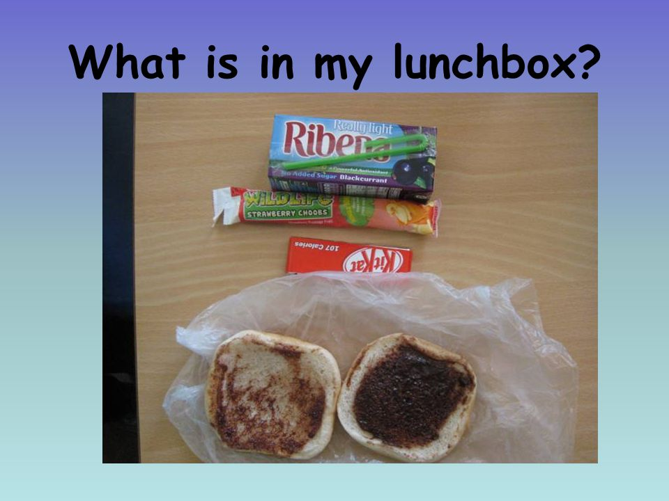 What is in my lunchbox