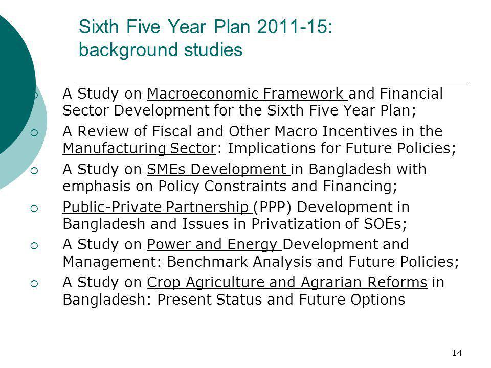 Sixth Five Year Plan 2011-15: background studies