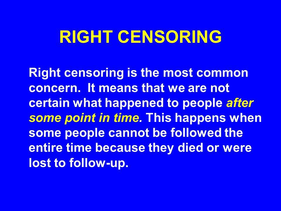 RIGHT CENSORING