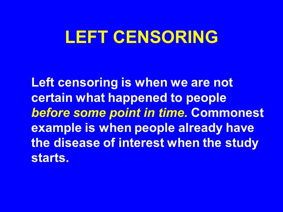 LEFT CENSORING