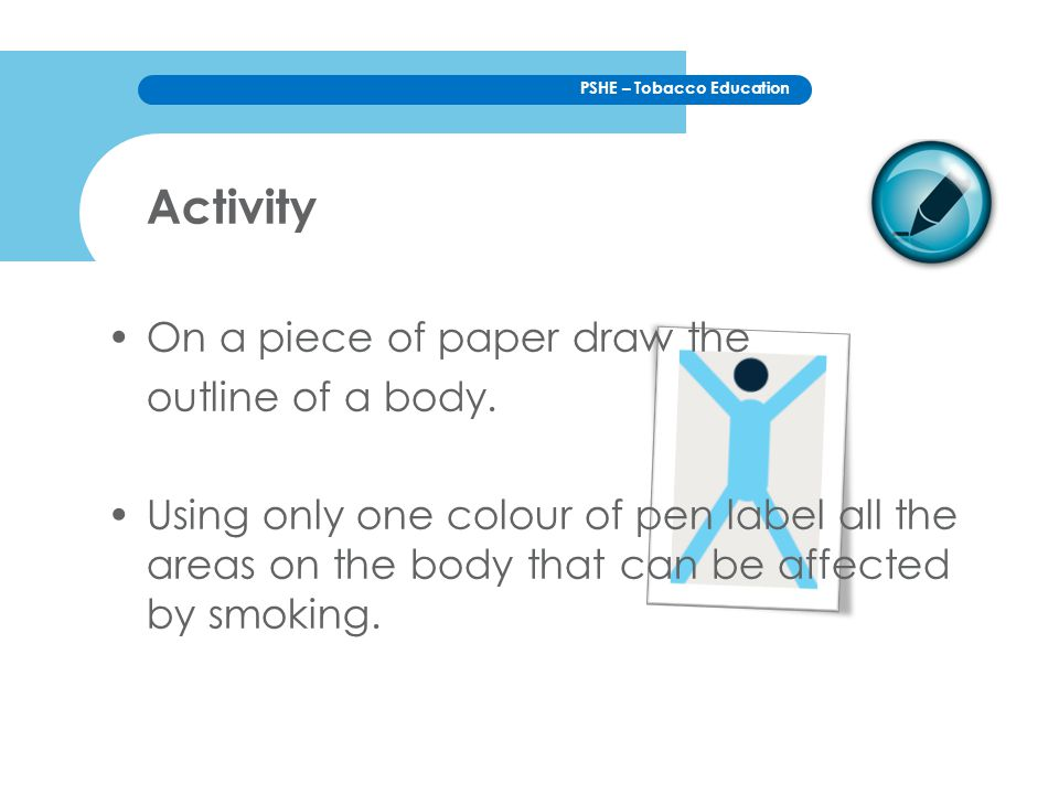 Activity On a piece of paper draw the outline of a body.