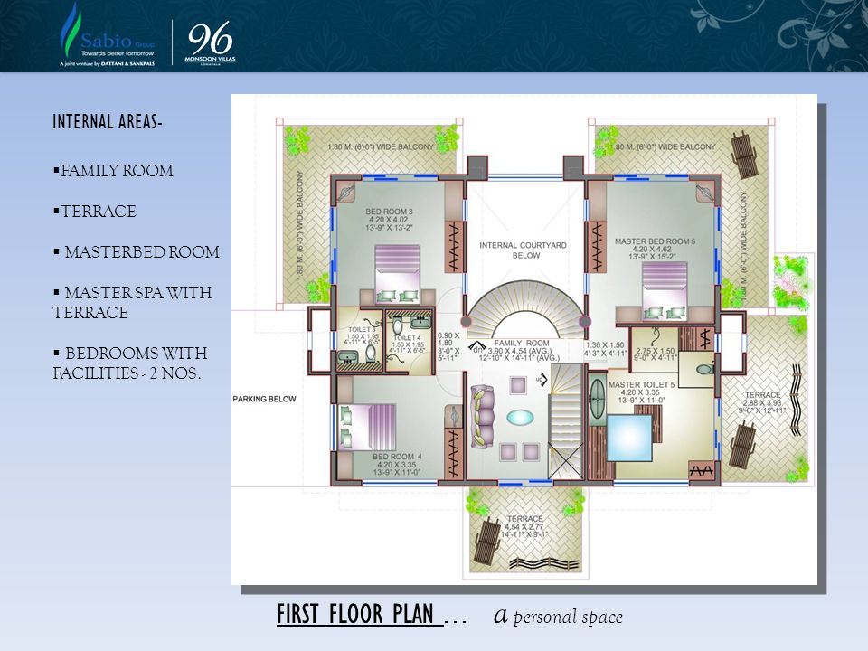 FIRST FLOOR PLAN . . . a personal space
