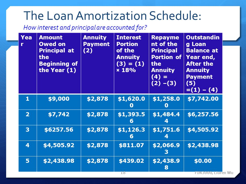 The Loan Amortization Schedule: How interest and principal are accounted for