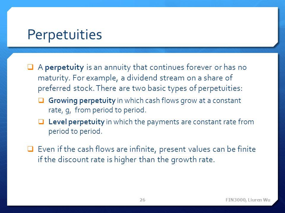 Perpetuities