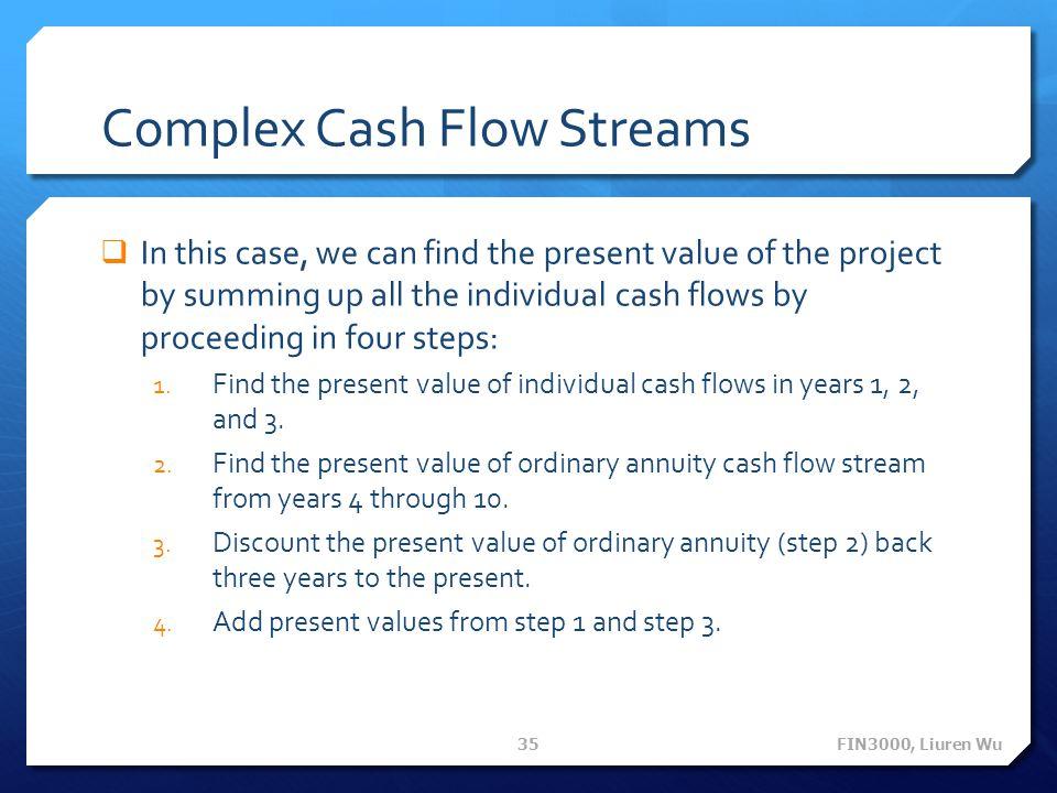 Complex Cash Flow Streams