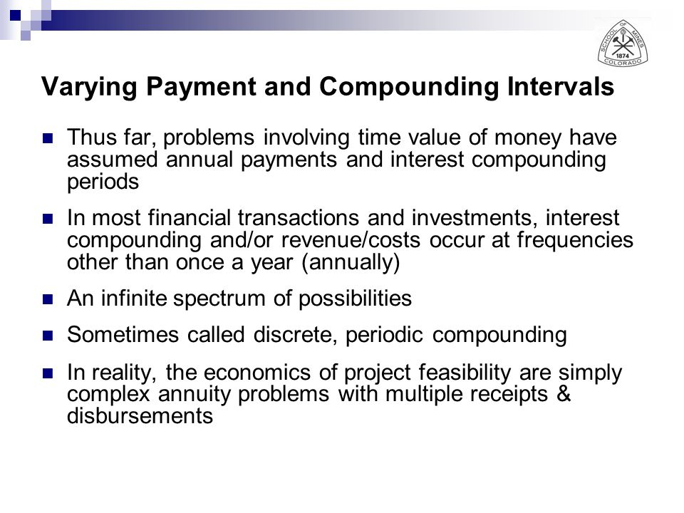 Varying Payment and Compounding Intervals