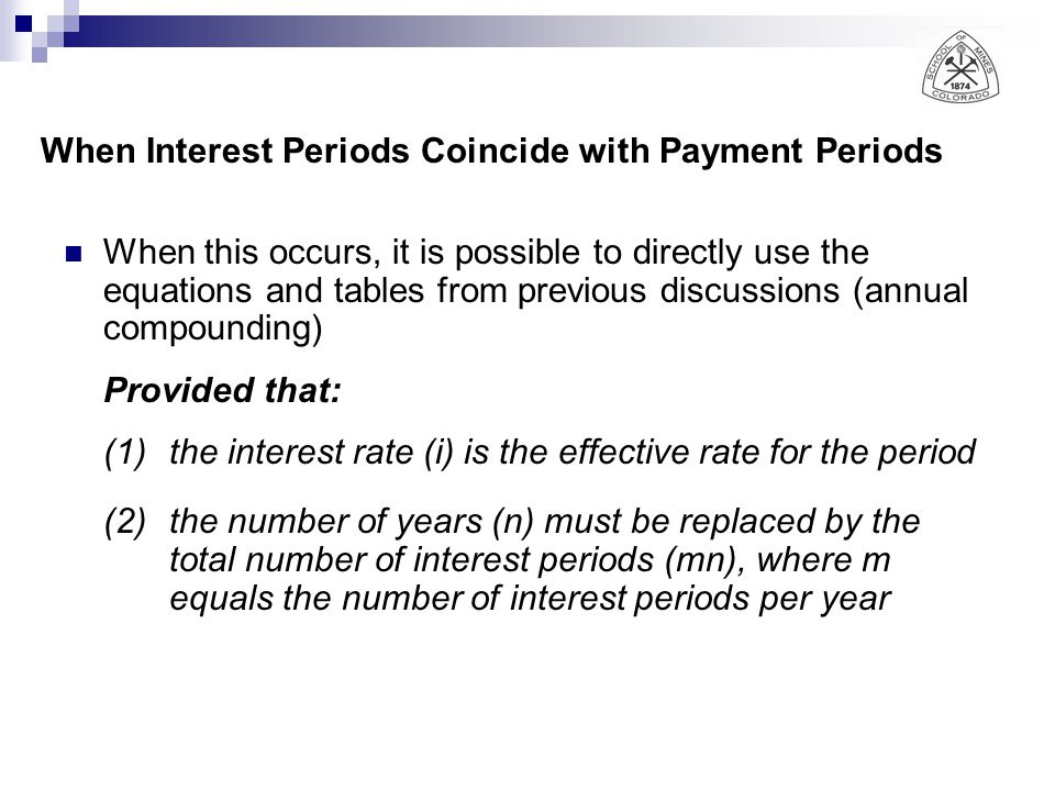 When Interest Periods Coincide with Payment Periods