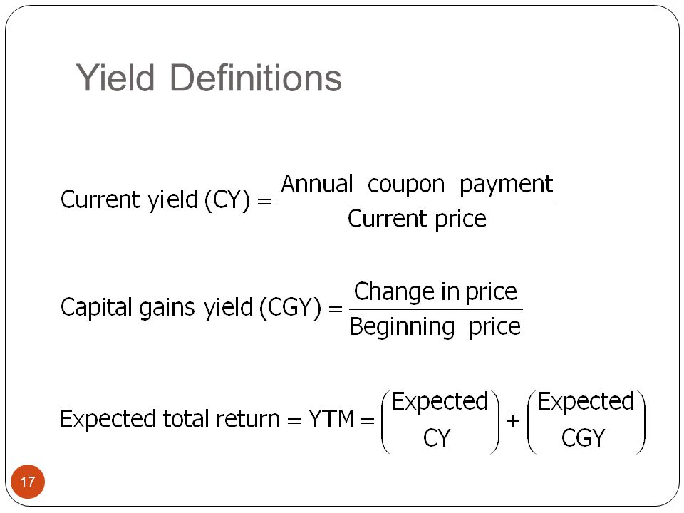 Yield Definitions