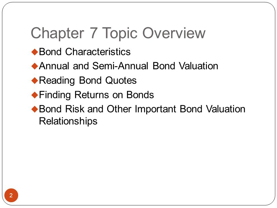Chapter 7 Topic Overview