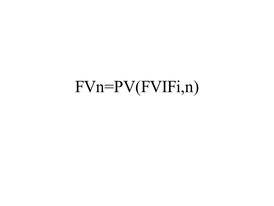 FVn=PV(FVIFi,n)