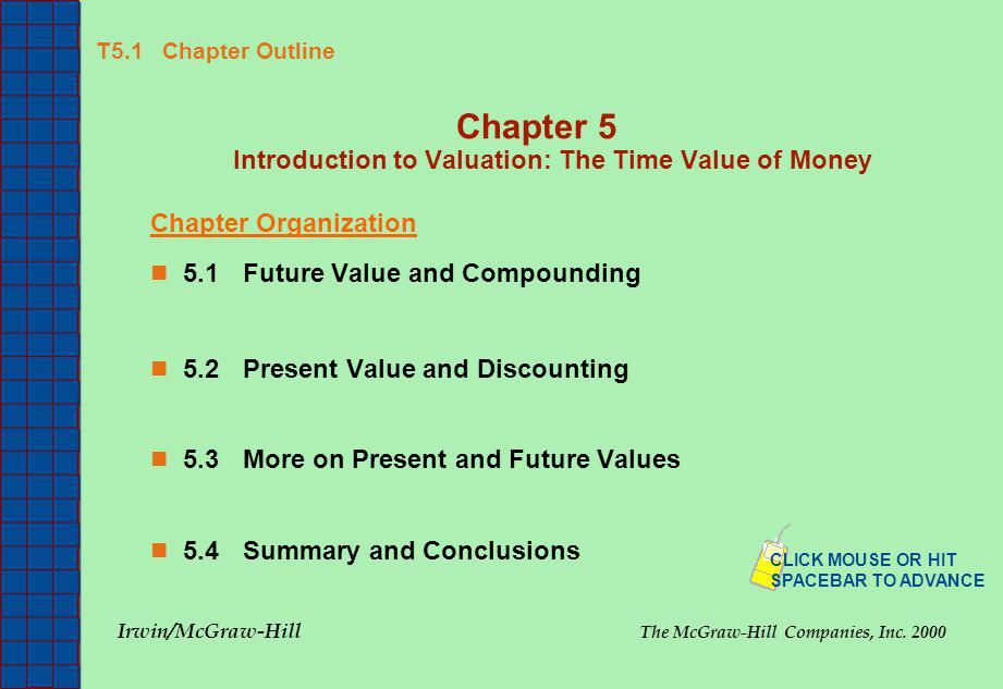 Chapter 5 Introduction to Valuation: The Time Value of Money