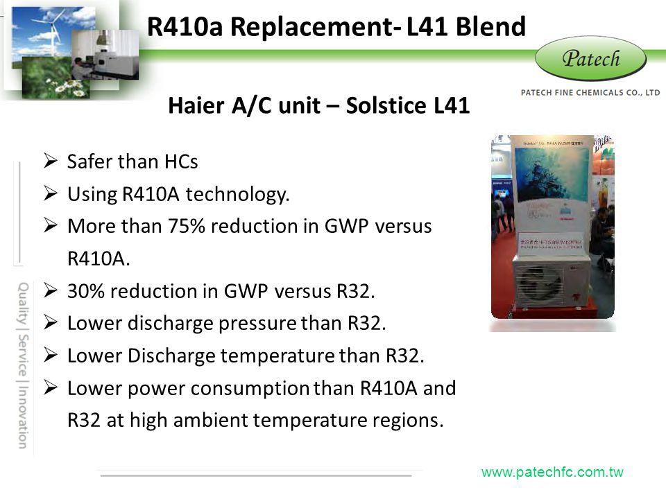 R410a Replacement- L41 Blend