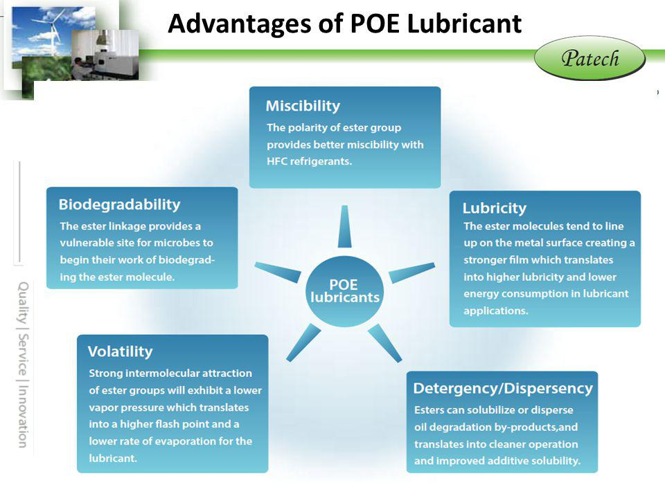 Advantage of POE Lubricants