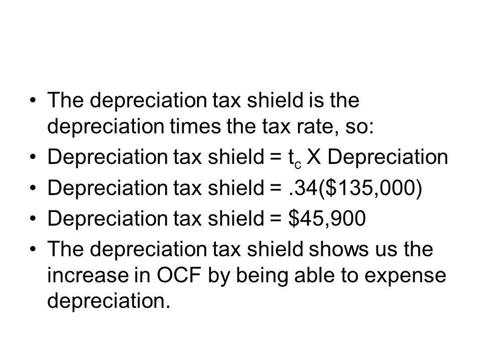 The depreciation tax shield is the depreciation times the tax rate, so: