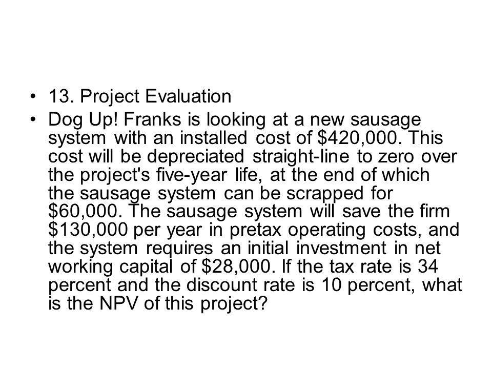 13. Project Evaluation