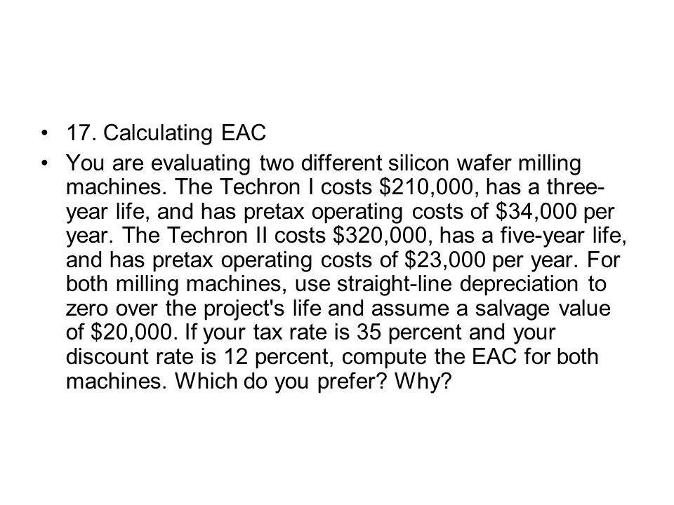17. Calculating EAC