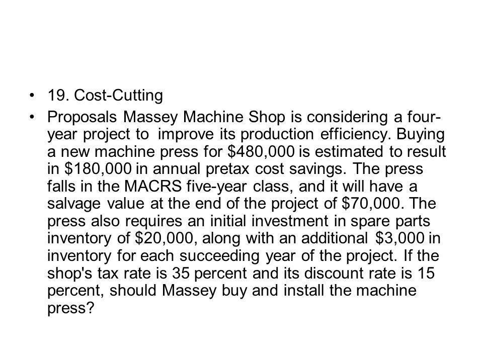 19. Cost-Cutting