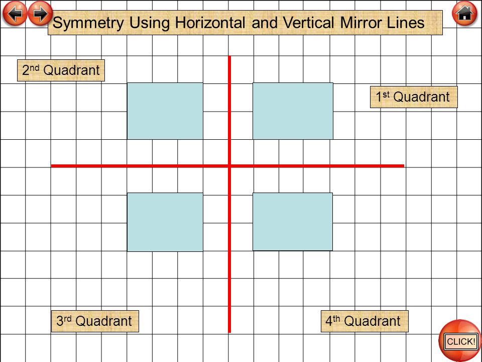 Symmetry Using Horizontal and Vertical Mirror Lines
