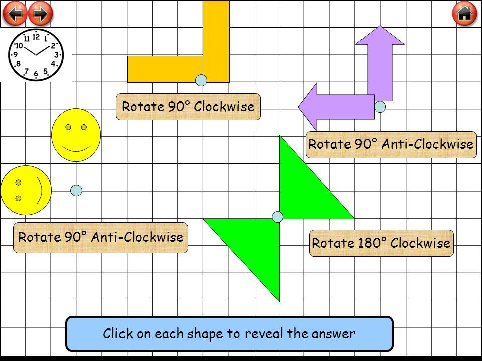 Rotate 90° Anti-Clockwise