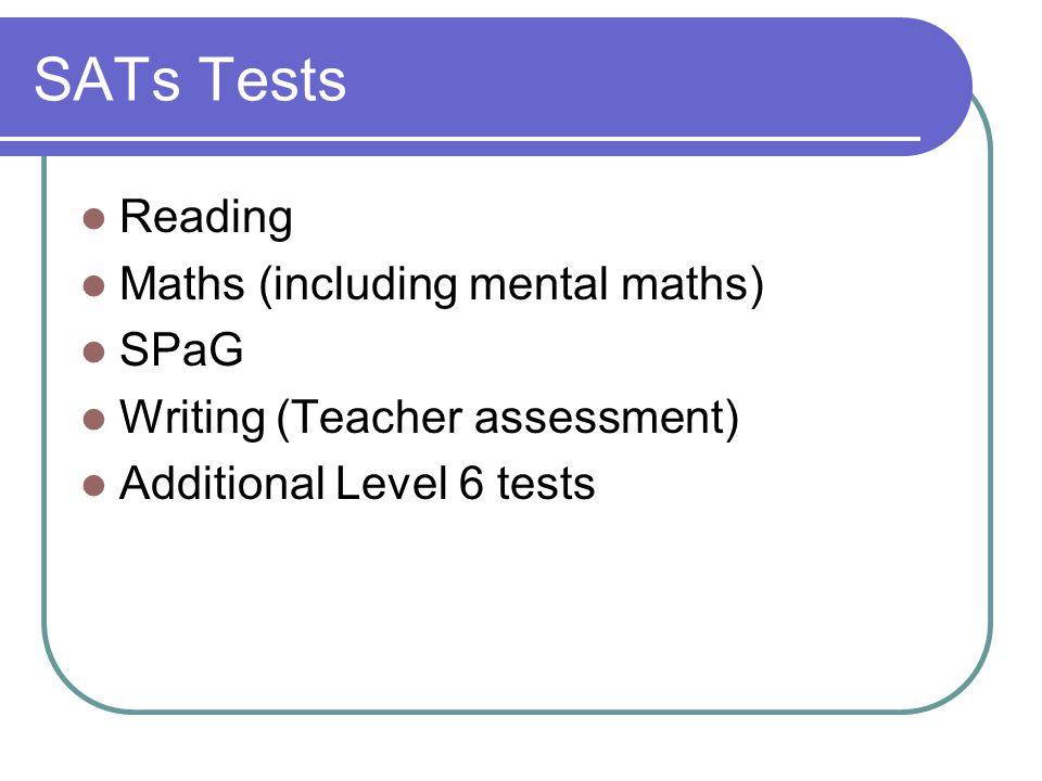 SATs Tests Reading Maths (including mental maths) SPaG