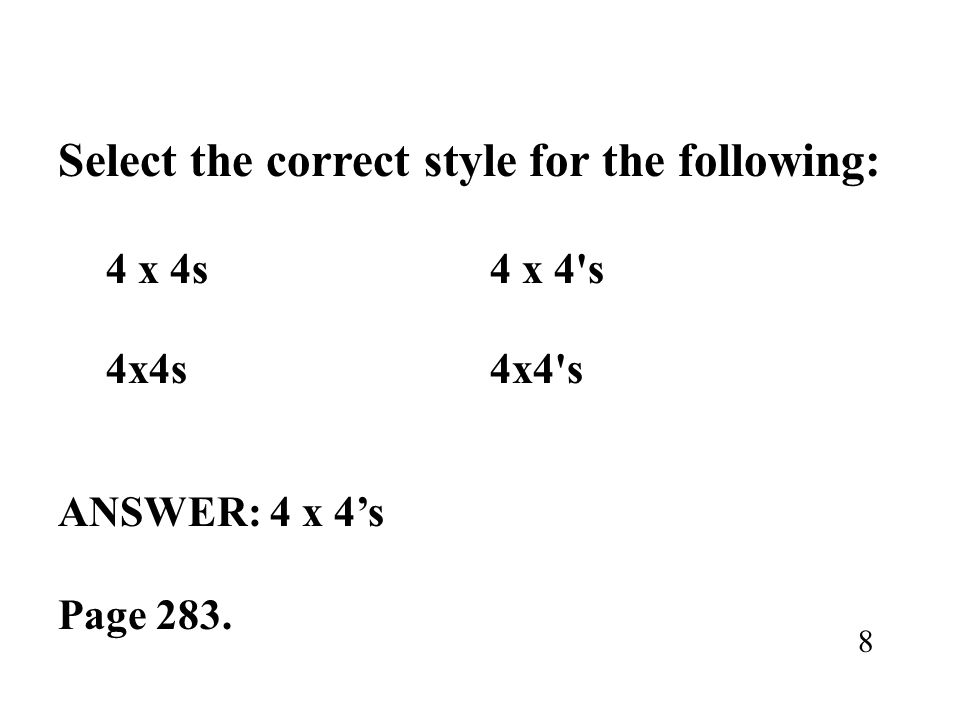 Select the correct style for the following: