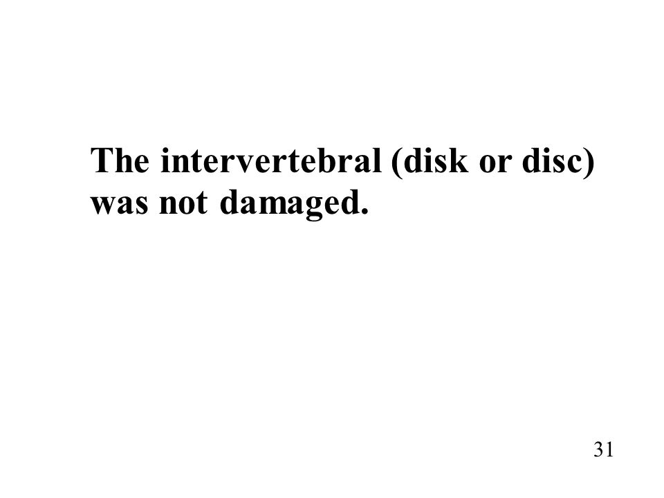 The intervertebral (disk or disc)