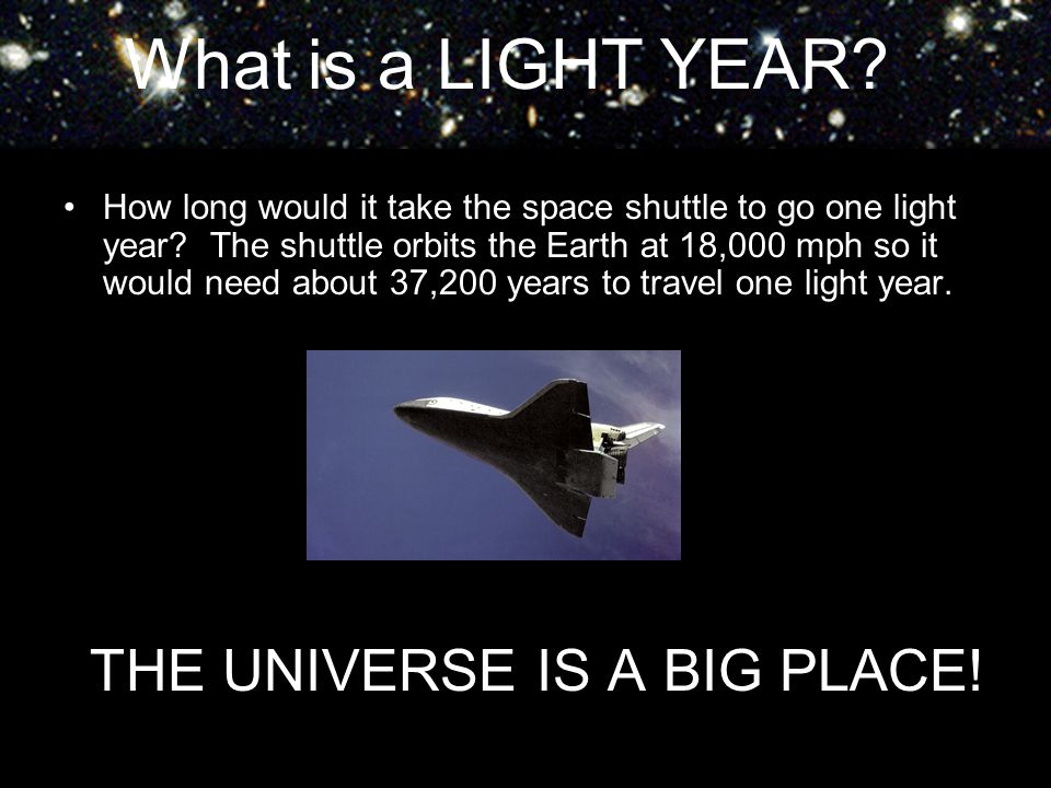THE UNIVERSE IS A BIG PLACE!