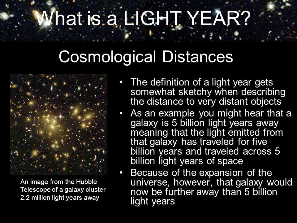 Cosmological Distances