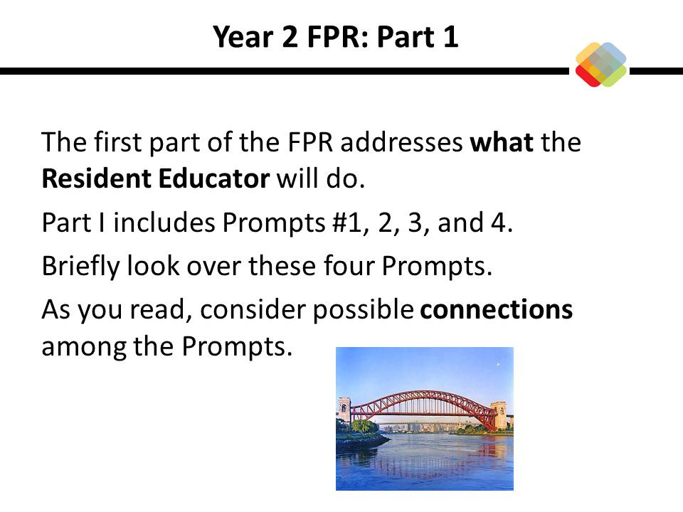 Year 2 FPR: Part 1