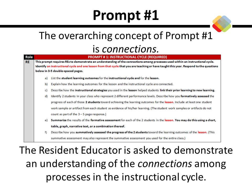 The overarching concept of Prompt #1 is connections.