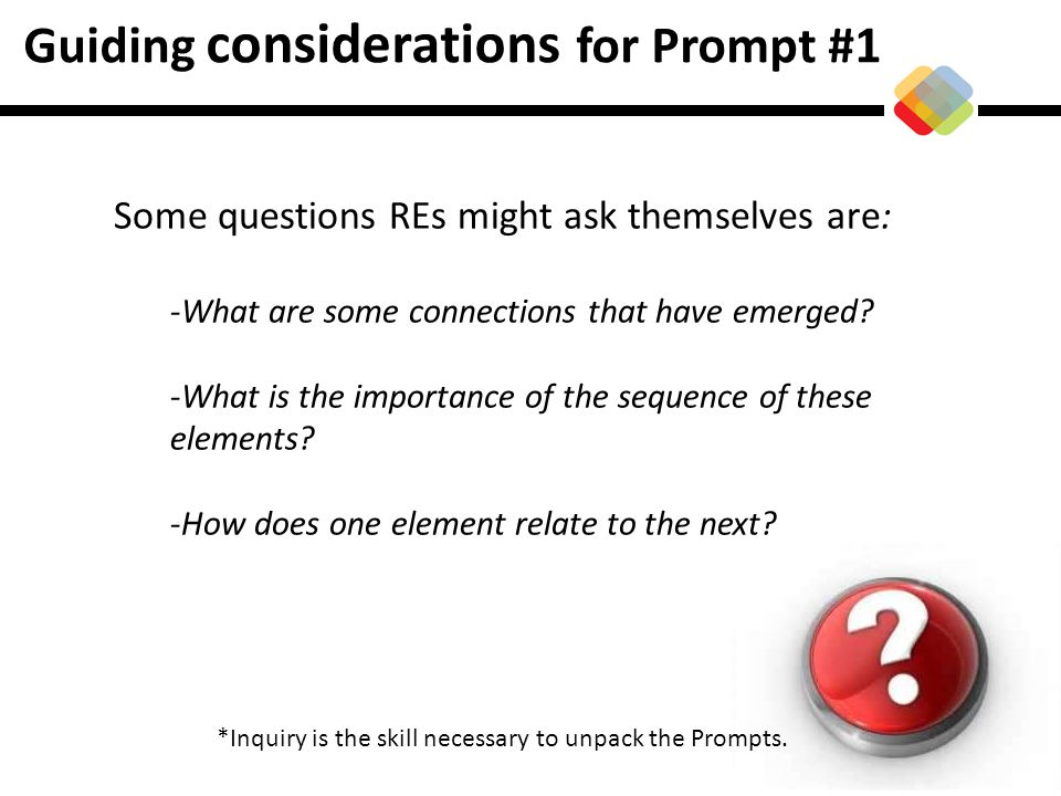 Guiding considerations for Prompt #1