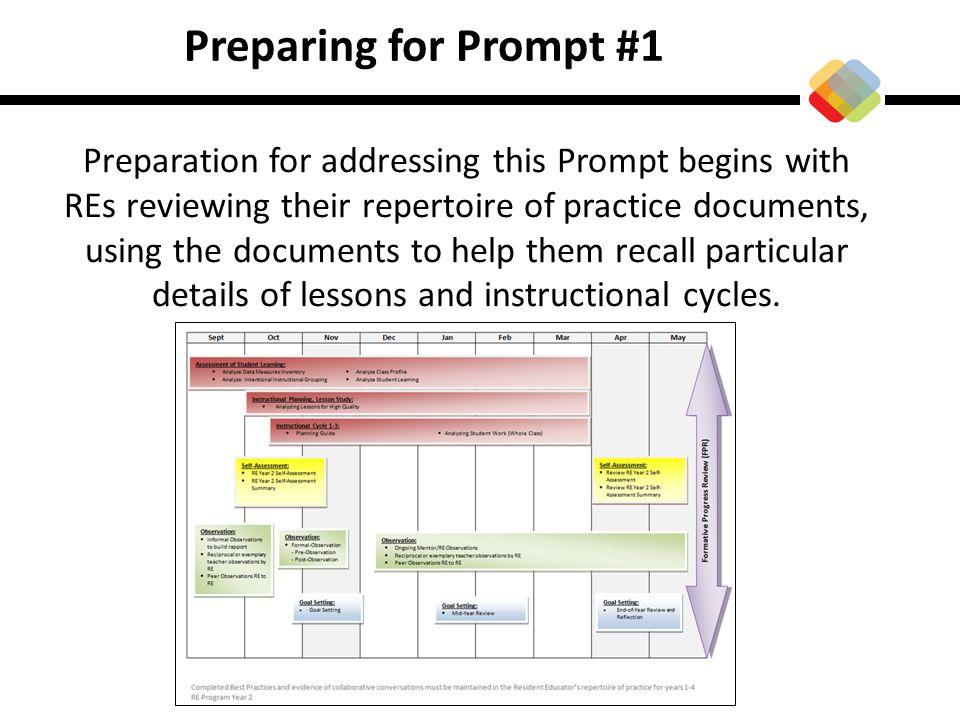 Preparing for Prompt #1
