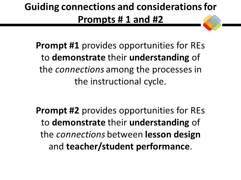 Guiding connections and considerations for Prompts # 1 and #2