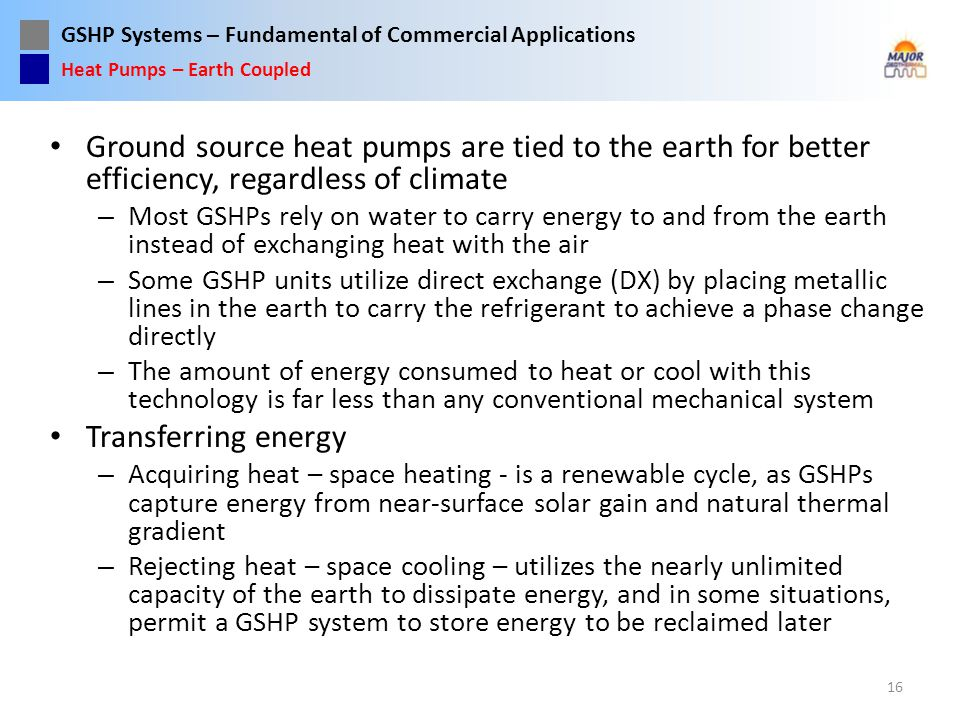 Heat Pumps – Earth Coupled
