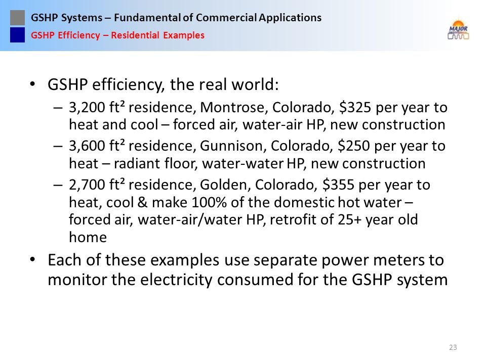 GSHP efficiency, the real world: