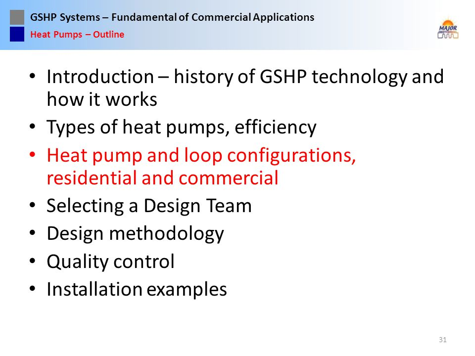 Introduction – history of GSHP technology and how it works