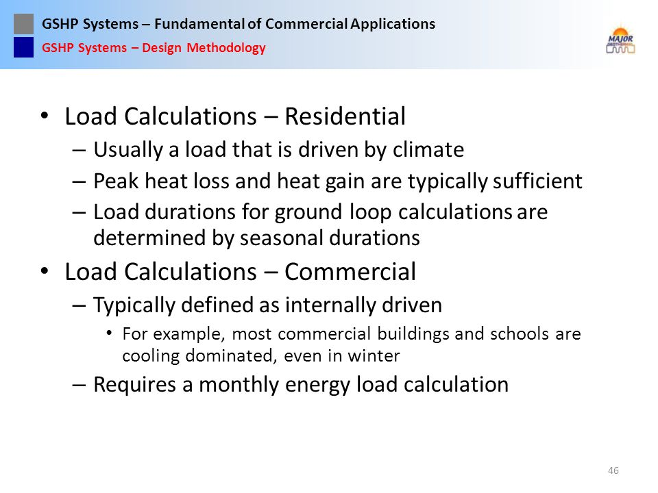 Load Calculations – Residential