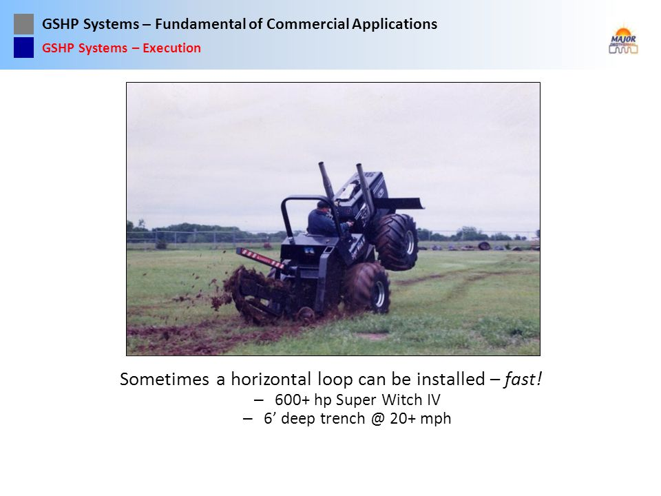 Sometimes a horizontal loop can be installed – fast!