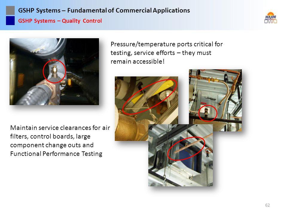 Pressure/temperature ports critical for