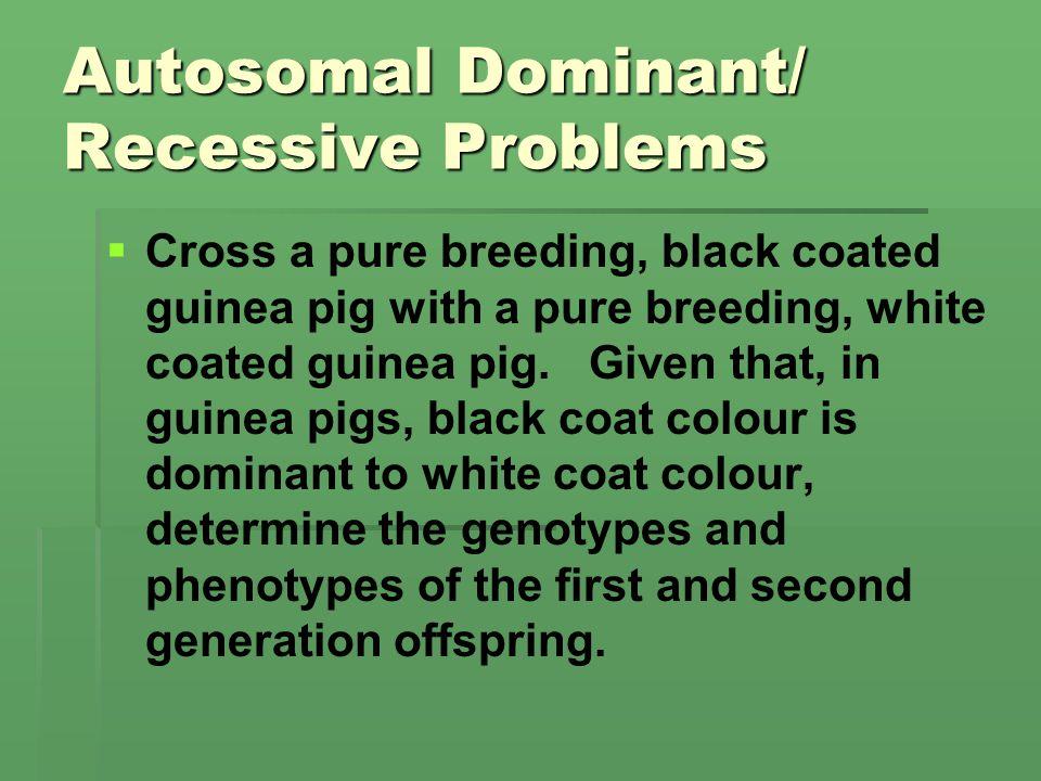 Autosomal Dominant/ Recessive Problems