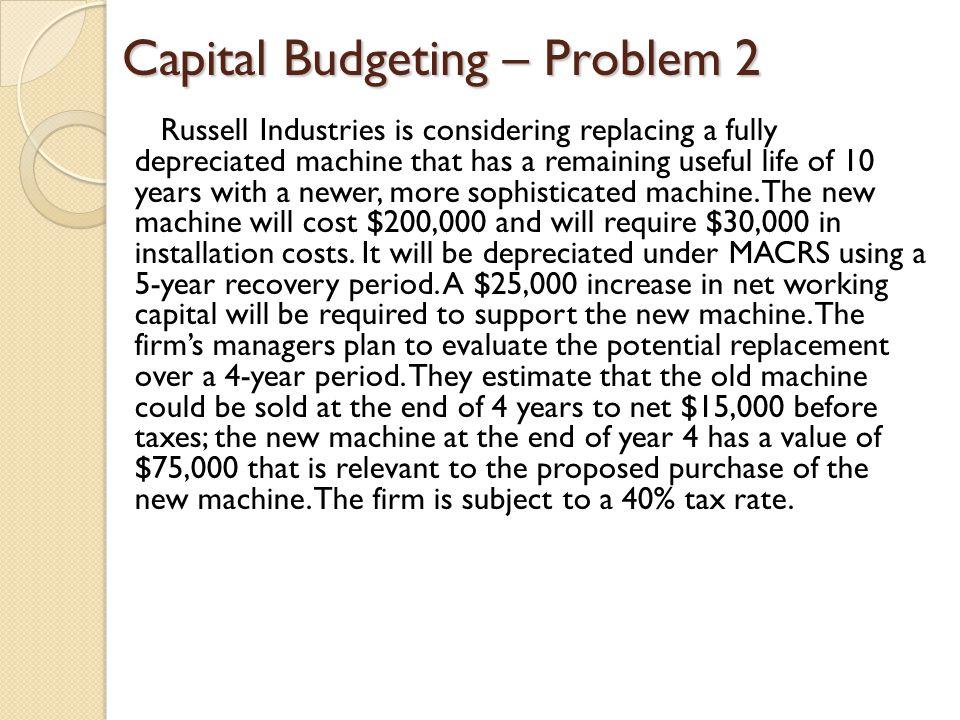 Capital Budgeting – Problem 2