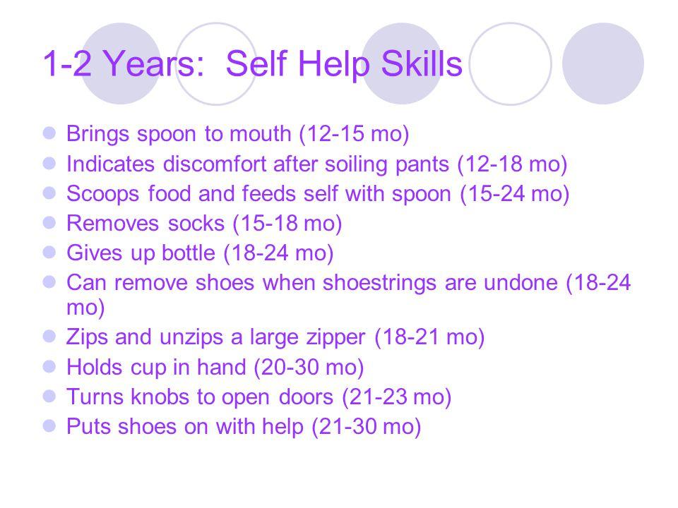1-2 Years: Self Help Skills