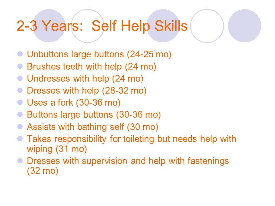 2-3 Years: Self Help Skills